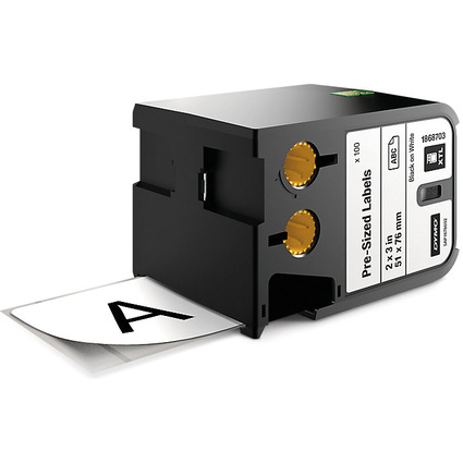 DYMO XTL Etiketten Polyester, schwarz/weiß, 25 x 51 mm