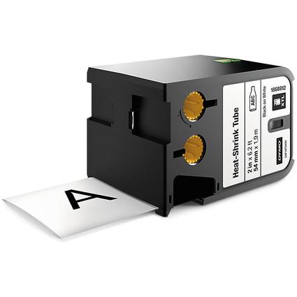 DYMO XTL Heißschrumpfschlauch, schwarz/weiß, 54 mm x 2,70 m