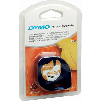 DYMO LetraTag Band, aufbügelbar, 12 mm x 2 m, weiß
