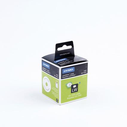 DYMO LabelWriter-CD/DVD-Etiketten, Durchmesser: 57 mm, weiß