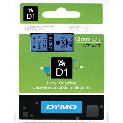 DYMO D1 Schriftbandkassette schwarz auf blau  12 mm/7,0 m