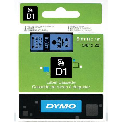 DYMO D1 Schriftbandkassette schwarz auf blau  9 mm/7,0 m
