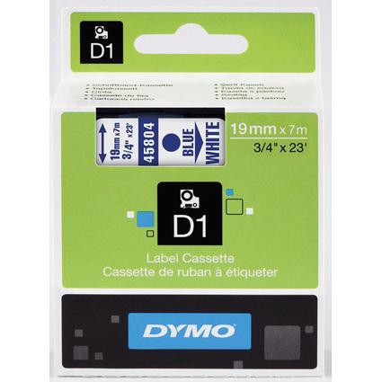 DYMO D1 Schriftbandkassette blau auf weiß  19 mm/7,0 m