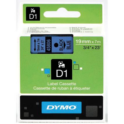 DYMO D1 Schriftbandkassette schwarz/blau, 19 mm x 7 m