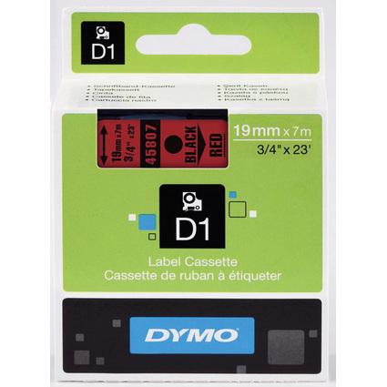 DYMO D1 Schriftbandkassette schwarz/rot, 19 mm x 7 m