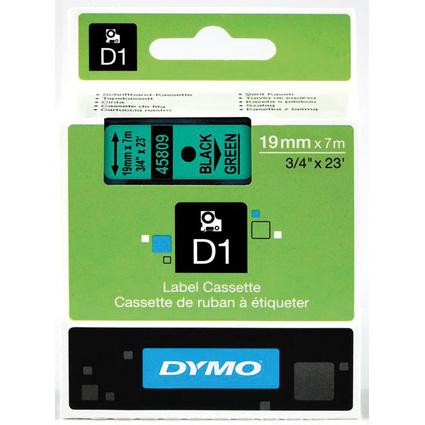 DYMO D1 Schriftbandkassette schwarz/grün, 19 mm x 7 m