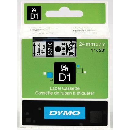 DYMO D1 Schriftbandkassette schwarz/transparent, 24 mm x 7 m