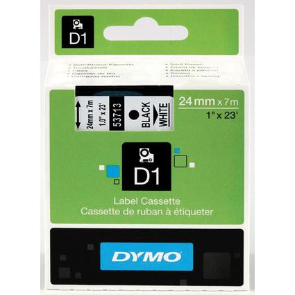 DYMO D1 Schriftbandkassette schwarz auf weiß, 24 mm/7,0 m