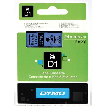 DYMO Schriftbandkassette schwarz auf blau, 24 mm/7,0 m