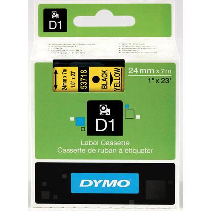 DYMO D1 Schriftbandkassette schwarz auf gelb, 24 mm/7,0 m