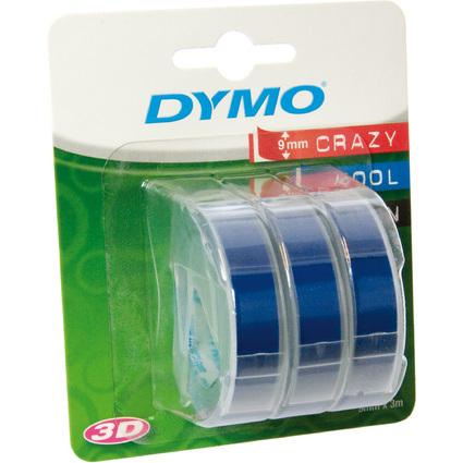DYMO Prägeband 3D, 9 mm breit, 3 m lang, blau, glänzend