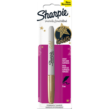 Sharpie Permanent-Marker Metallic, gold