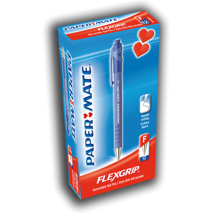 Paper:Mate Druckkugelschreiber FlexGrip Ultra, blau