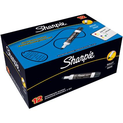 Sharpie Whiteboard-Marker, Rundspitze, schwarz