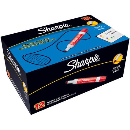 Sharpie Whiteboard-Marker, Rundspitze, rot