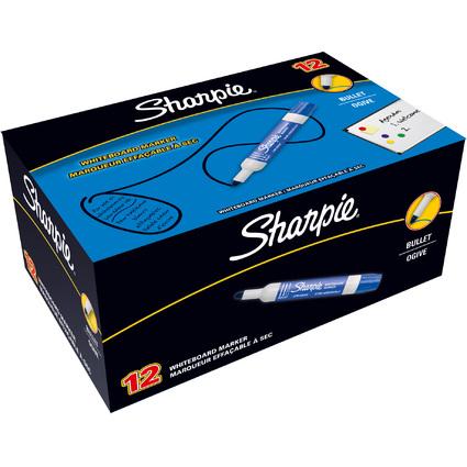 Sharpie Whiteboard-Marker, Rundspitze, blau