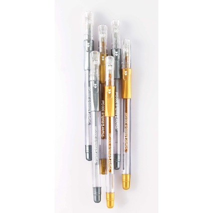Paper:Mate Gelschreiber Gel 300, gold und silber, Display