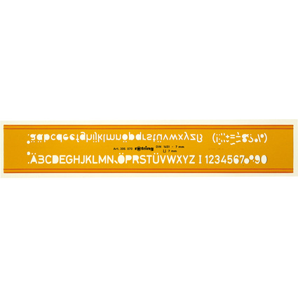 rotring Schriftschablone 5,0 mm Schrifthöhe