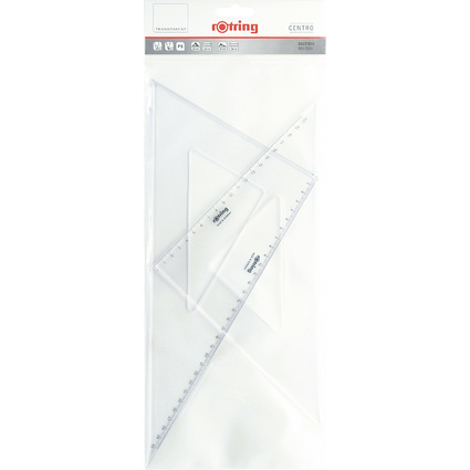 """rotring Zeichen-Dreieck """"Centro"""", 2er-Set"""