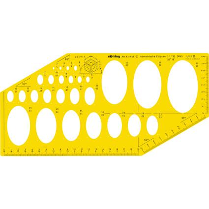 rotring Schablone für isometrische Ellipsen nach DIN 5