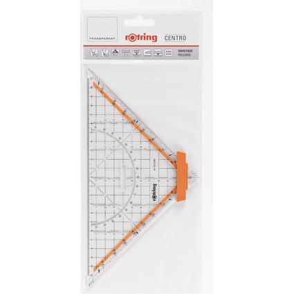 rotring Geometrie-Dreieck Centro, Hypotenuse: 250 mm