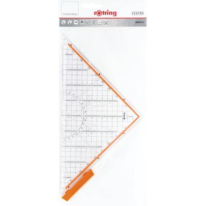 rotring Geometrie-Dreieck Centro, mit abnehmbarem Griff