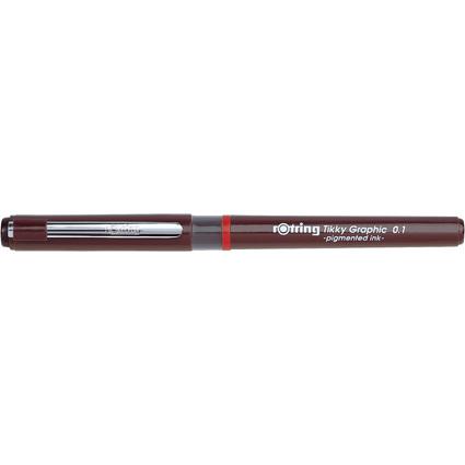 rotring Tikky Graphic Faserschreiber, Strichstärke 0,1 mm
