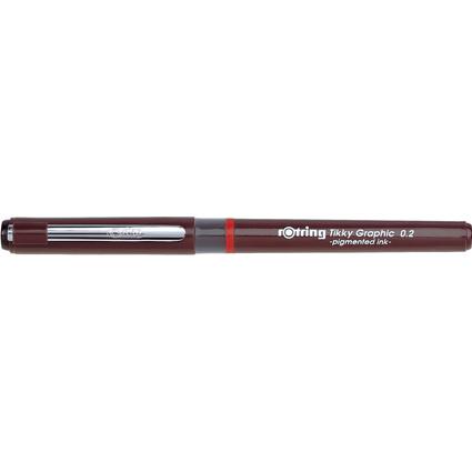 rotring Tikky Graphic Faserschreiber, Strichstärke 0,2 mm