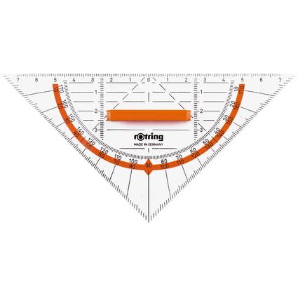 rotring Geo-Dreieck Centro mit Griff, Hypotenuse: 160 mm