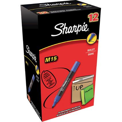 Sharpie Permanent-Marker M15, Rundspitze, blau