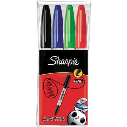 Sharpie Permanent-Marker FINE, 4er Etui