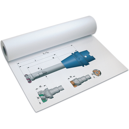 PAPYRUS Inkjet-Plotterrolle, 610 mm x 50 m, weiß