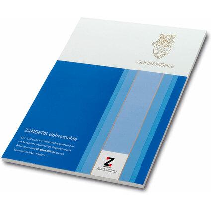 GOHRSMÜHLE Briefblock Bankpost, DIN A4, 100 g/qm, hochweiß