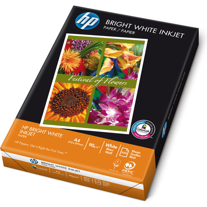 "Original hp Inkjet-Papier ""Bright White"", A4, 90 g/qm"