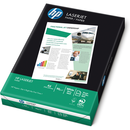 Original hp Laserdrucker-Papier, DIN A4, 90 g/qm, weiß