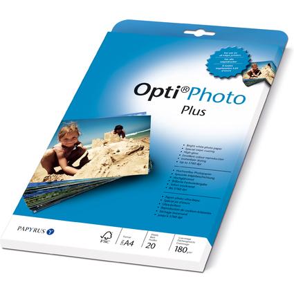 PAPYRUS Inkjet-Foto-Papier Opti Photo Plus, DIN A4, 180 g/qm