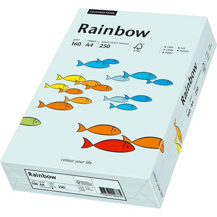 PAPYRUS Multifunktionspapier Rainbow, A4, 160 g/qm, hellblau