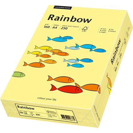 PAPYRUS Multifunktionspapier Rainbow, A4, 160 g/qm, hellgelb