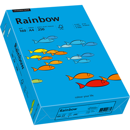 PAPYRUS Multifunktionspapier Rainbow, A4, intensivblau