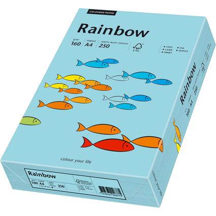 PAPYRUS Multifunktionspapier Rainbow, A4, mittelblau