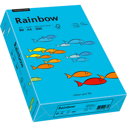 PAPYRUS Multifunktionspapier Rainbow, A4, 80 g/qm, blau