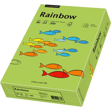 PAPYRUS Multifunktionspapier Rainbow, A4, 80 g/qm, grün
