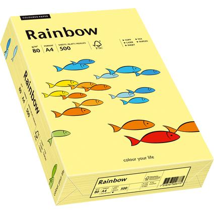 PAPYRUS Multifunktionspapier Rainbow, A4, 80 g/qm, hellgelb