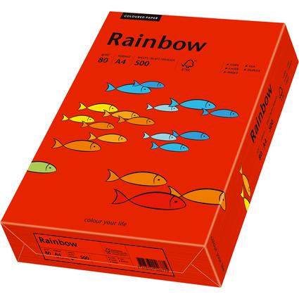 PAPYRUS Multifunktionspapier Rainbow, A4, intensivrot