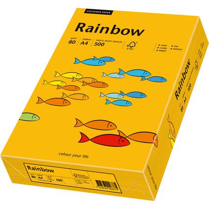 PAPYRUS Multifunktionspapier Rainbow, A4, mittelorange
