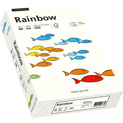PAPYRUS Multifunktionspapier Rainbow, A4, 80 g/qm, naturweiß