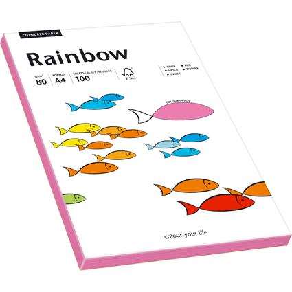 PAPYRUS Multifunktionspapier Rainbow, A4, 80 g/qm, neonpink