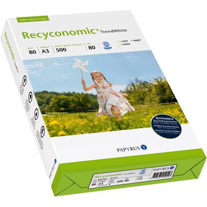 PAPYRUS Multifunktionspapier Recyconomic, A3, 80 g/qm