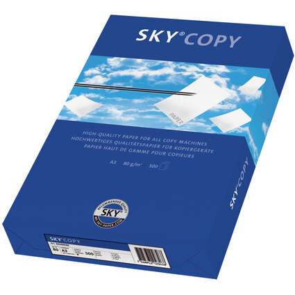 SKY Multifunktionspapier Copy, DIN A3, 80 g/qm, weiß, blanko