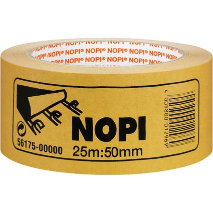 NOPI Doppelseitiges Klebeband aus PP, 50 mm x 25 m